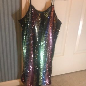 Sequin mini dress size small NWT